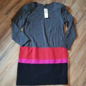 DKNY Long Sleeve Dress SZ M, NEW WITH TAGS